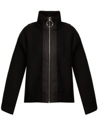 Paco Rabanne - Ribbed-knit Wool Jacket - Lyst