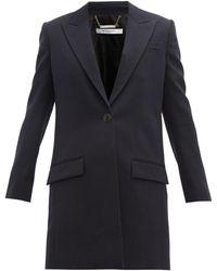 Givenchy ウール シングルコート - ブルー