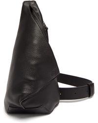 Loewe アントン スリング グレインレザーバックパック - ブラック