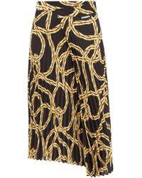Vetements Chain-print Plissé Skirt - Multicolour