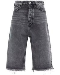 Balenciaga フレイド クロップドジーンズ - マルチカラー