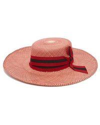Sensi Studio - Trinado Ribbon-trim Straw Boater Hat - Lyst