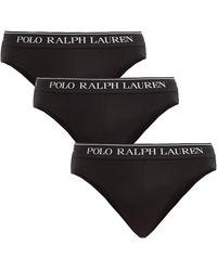 Polo Ralph Lauren ストレッチコットン ブリーフ X3 - ブラック
