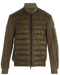 Moncler - Ariege Contrast-panel Quilted Down Jacket - Lyst