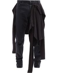 Raf Simons Aw04 Tシャツレイヤード スリムジーンズ - ブラック