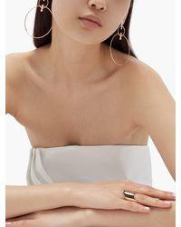 Diane Kordas Double Hoop Diamond & 18kt Rose Gold Earrings - Metallic