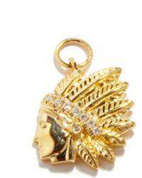 Jacquie Aiche - チーフ ダイヤモンド 14kゴールドチャーム - Lyst