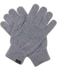 Paul Smith Cashmere-blend Gloves - Grey
