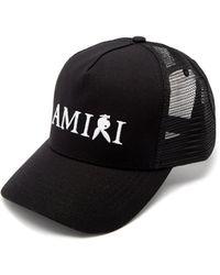 Amiri X Playboy ロゴ キャンバストラッカーキャップ - ブラック