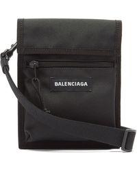 Balenciaga エクスプローラー リサイクルナイロンポーチ - ブラック