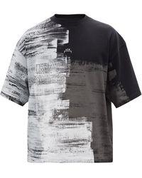 A_COLD_WALL* * ブラッシュストローク オーガニックコットンtシャツ - ブラック