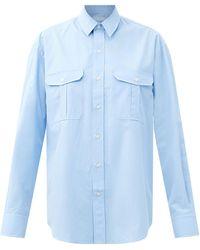 WARDROBE.NYC Wardrobe. Nyc リリース 03 コットンポプリンシャツ - ブルー