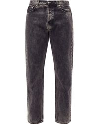 Séfr Marbled-wash Straight-leg Jeans - Gray