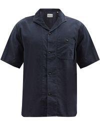 Albam マイルズ コットンニードルコードシャツ - ブルー