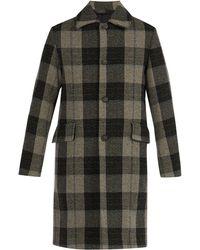 Acne Studios - Checked Wool Coat - Lyst