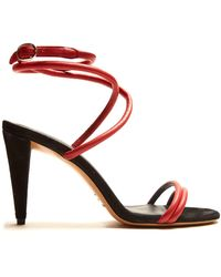 Isabel Marant - Abigua Tie-ankle Leather Sandals - Lyst