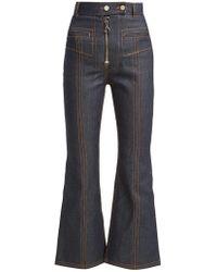 Ellery Hemisphere Cropped Flare Jeans - Blue
