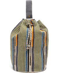Guanabana Sac à dos tissé à rayures Tula - Multicolore