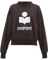 Étoile Isabel Marant Moby Flocked Logo Cotton Blend Sweatshirt
