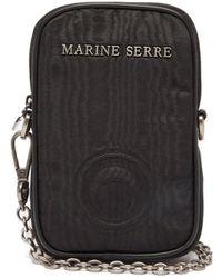 Marine Serre エンボスロゴ クロスボディフォンケース - ブラック