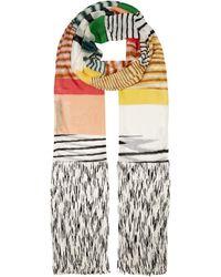 Missoni Striped Fine-knit Scarf - Multicolour