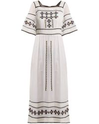Talitha - Sarafina Embroidered Cotton Dress - Lyst