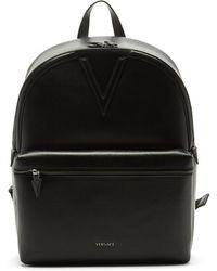 Versace テクスチャードレザー バックパック - ブラック
