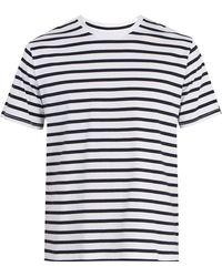 Rag & Bone - Henry Striped Cotton T-shirt - Lyst