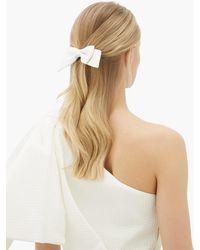 Emilia Wickstead Knightsbridge Oversized Satin-cloqué Bow - White