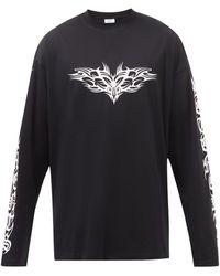 Vetements - オーバーサイズ コットン ロングスリーブtシャツ - Lyst