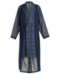 Toga - Oversized Double-breasted Mesh Trench Coat - Lyst