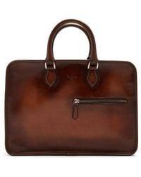 Berluti - Venezia Zip-around Leather Briefcase - Lyst