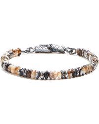Bottega Veneta - Garnet-stone And Silver Beaded Bracelet - Lyst