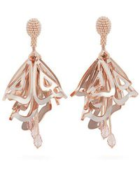 Oscar de la Renta - Cayenne Large Clip-on Earrings - Lyst
