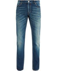 Balenciaga - Slim Fit Faded Wash Jeans - Lyst