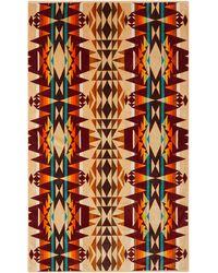 Pendleton Serviette jacquard de coton éponge Crested Butte - Multicolore