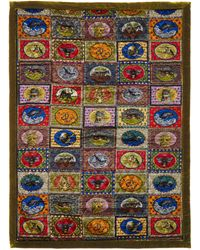 Gucci Animal Print Silk And Velvet Eiderdown - Multicolour
