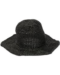 Reinhard Plank Star Straw Bucket Hat - Black