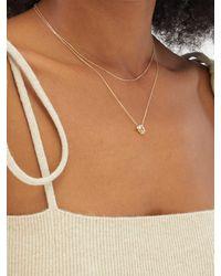 Mizuki Diamond, Topaz & 14kt Gold Necklace - Metallic