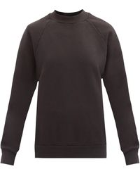 Les Tien ブラッシュドバックコットンスウェットシャツ - ブラック