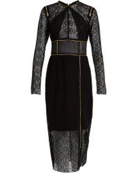 Sophie Theallet - Zip Detail Guipure Lace Dress - Lyst