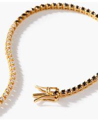Lizzie Mandler オセロ ダイヤモンド 18kゴールドテニスブレスレット - メタリック