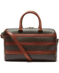 Saint Laurent Le Monogramme Leather-trim Canvas Duffle Bag - Brown