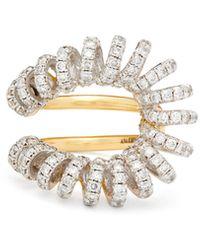 Ana Khouri Bague en or blanc, or 18 carats et diamants Maia - Métallisé