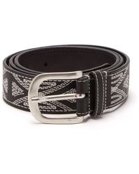 Isabel Marant - Tetyh Embroidered Leather Belt - Lyst