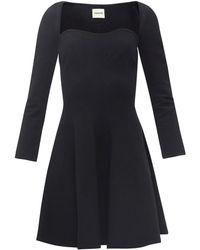 Khaite ディラン スウィートハートネック ジャージードレス - ブラック