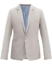 Haider Ackermann Veste de costume à boutonnage simple - Gris