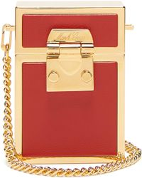bf39a03020c9 Mark Cross Grace Mini Croc-effect Gold-plated Shoulder Bag in ...