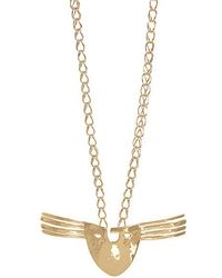 Aurelie Bidermann - Melina Mask Gold-plated Necklace - Lyst