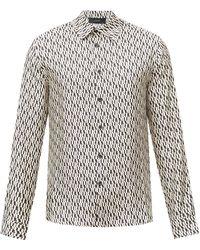 Amiri - ロゴプリント シルクツイルシャツ - Lyst